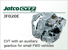 CVT with an auxiliary gearbox for small FWD vehicles Jatco CVT7 JF020E