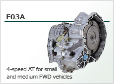 4-speed AT for small and medium FWD vehicles F03A