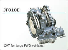 CVT for large FWD vehicles JF010E