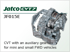 CVT with an auxiliary gearbox for mini and small FWD vehicles Jatco CVT7 JF015E