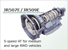 5-speed AT for medium and large RWD vehicles JR507E/JR509E