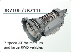7-speed AT for medium and large RWD vehicles JR710E/JR711E